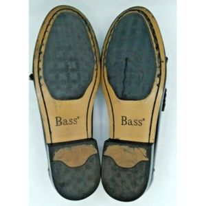 Bass Shoes - Bass Mens Leather Tassel Loafers Burgundy Sz 10.5M